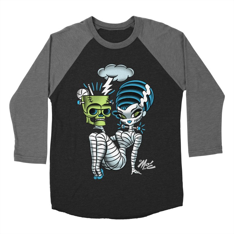 Frankencutie! Women's Baseball Triblend T-Shirt by Mitch O'Connell