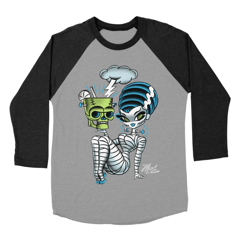 Frankencutie! Men's Baseball Triblend T-Shirt by Mitch O'Connell
