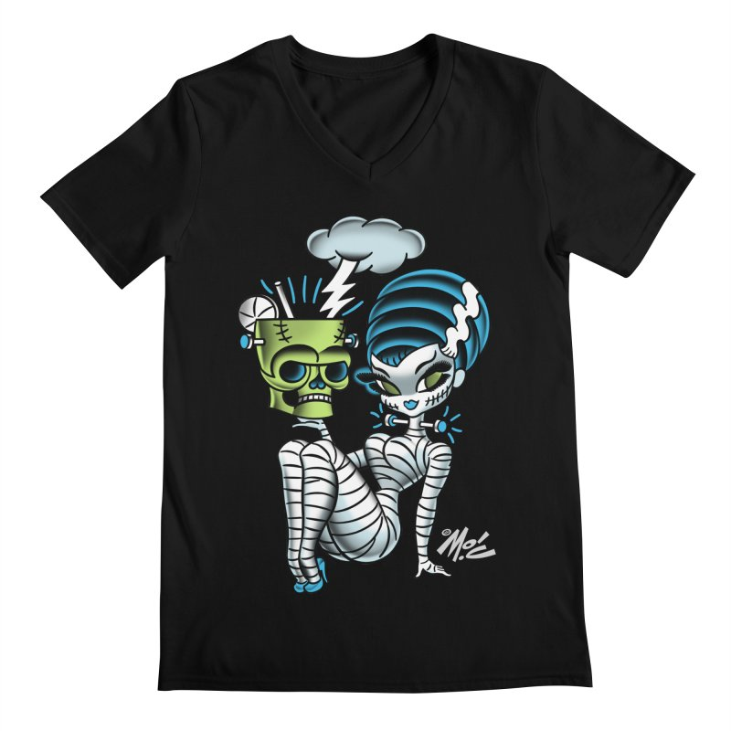 Frankencutie! Men's V-Neck by Mitch O'Connell
