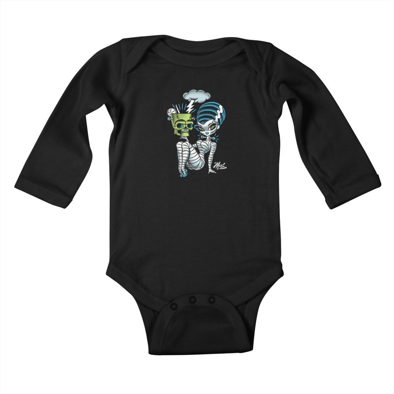 Frankencutie! Kids Baby Longsleeve Bodysuit by Mitch O'Connell