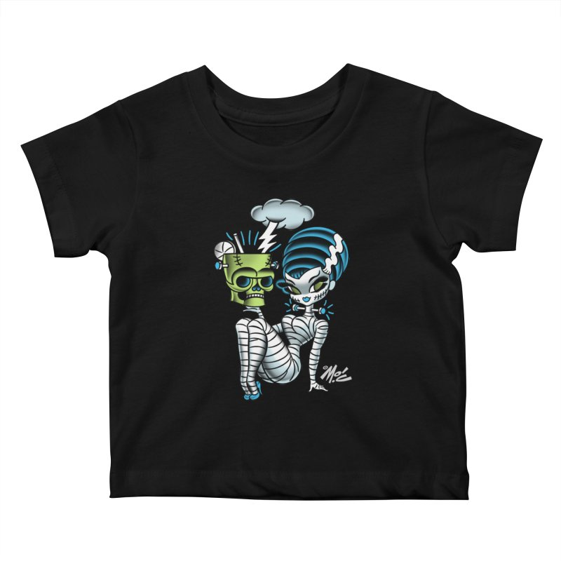 Frankencutie! Kids Baby T-Shirt by Mitch O'Connell