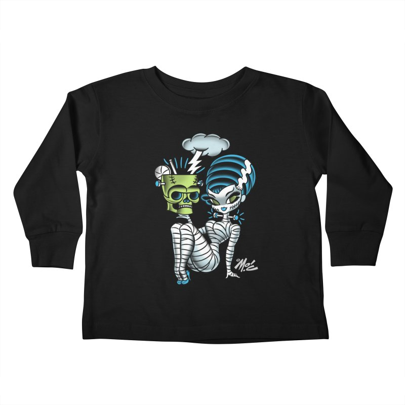 Frankencutie! Kids Toddler Longsleeve T-Shirt by Mitch O'Connell