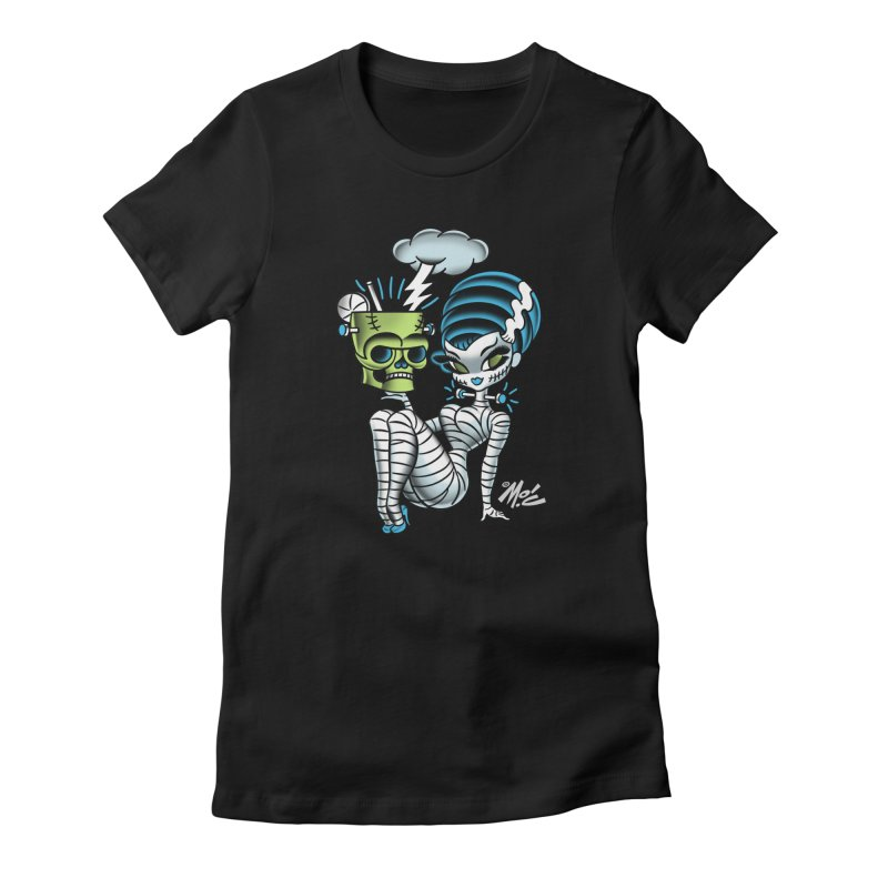 Frankencutie! Women's Fitted T-Shirt by Mitch O'Connell