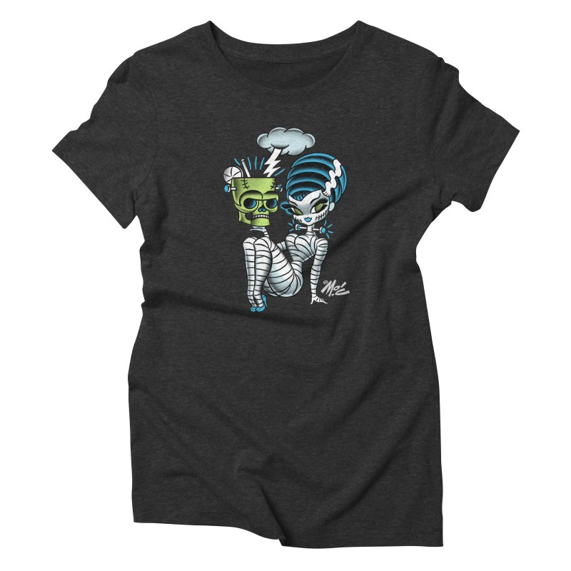 Frankencutie! Women's Triblend T-Shirt by Mitch O'Connell