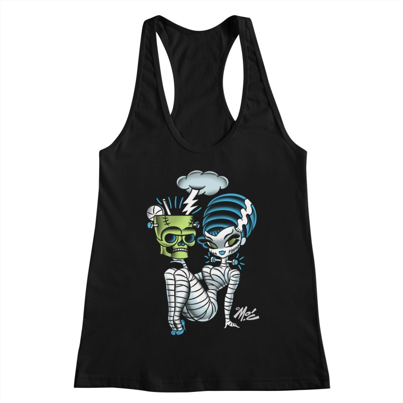 Frankencutie! Women's Racerback Tank by Mitch O'Connell
