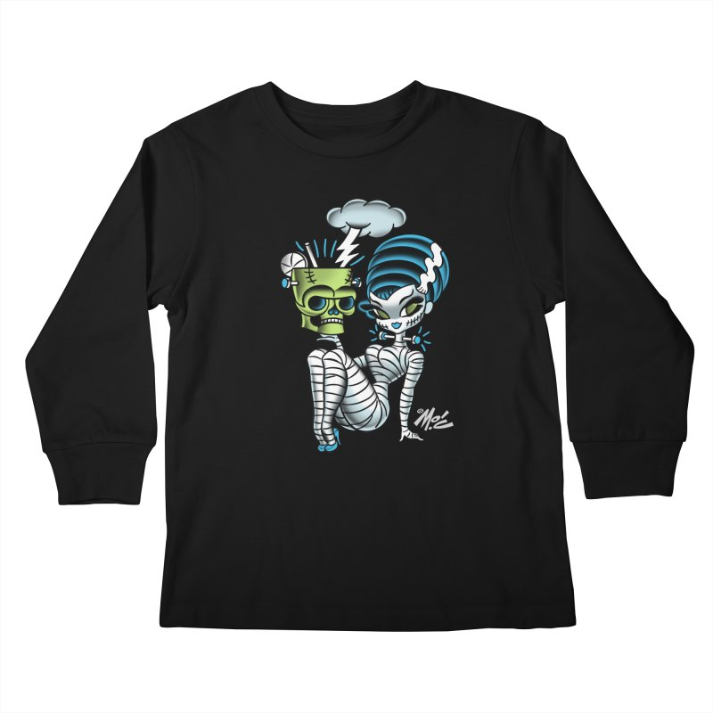 Frankencutie! Kids Longsleeve T-Shirt by Mitch O'Connell