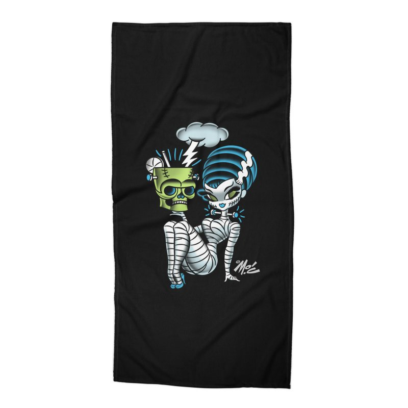 Frankencutie! Accessories Beach Towel by Mitch O'Connell
