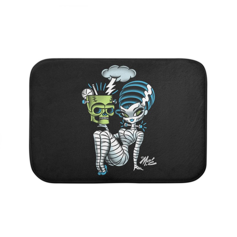 Frankencutie! Home Bath Mat by Mitch O'Connell