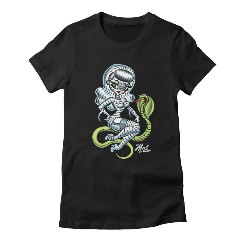 Miss Mummy! Women's Fitted T-Shirt by Mitch O'Connell