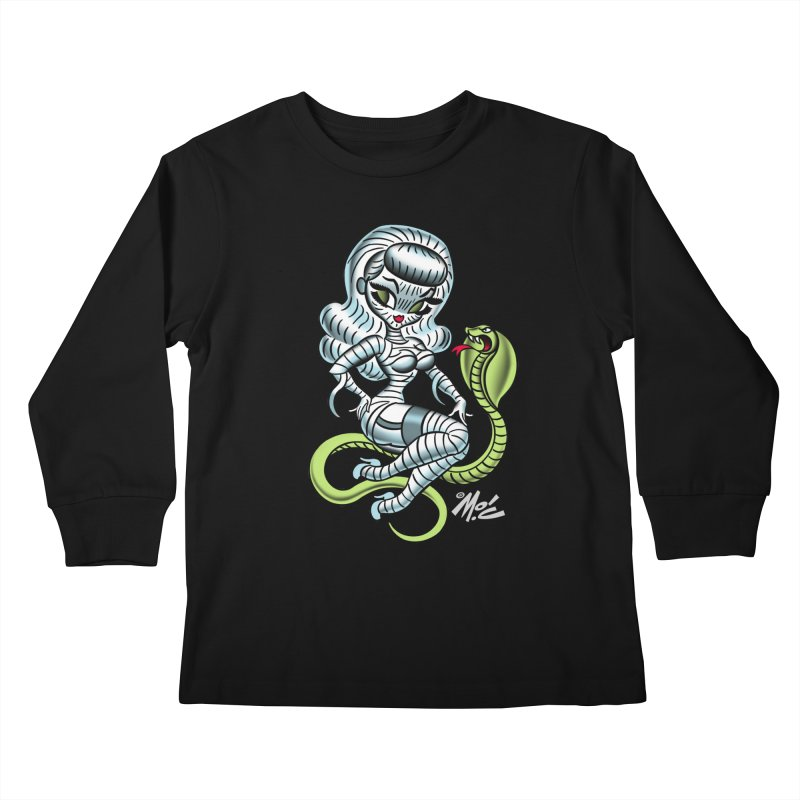 Miss Mummy! Kids Longsleeve T-Shirt by Mitch O'Connell