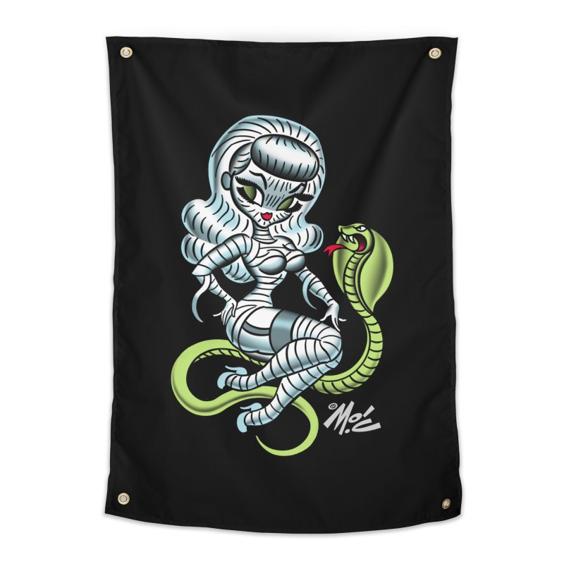 Miss Mummy! Home Tapestry by Mitch O'Connell