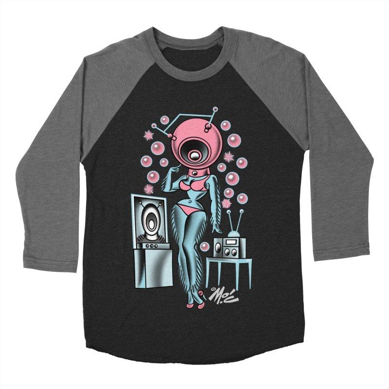 Robotcutie! Women's Baseball Triblend T-Shirt by Mitch O'Connell
