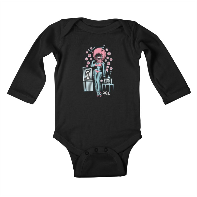 Robotcutie! Kids Baby Longsleeve Bodysuit by Mitch O'Connell