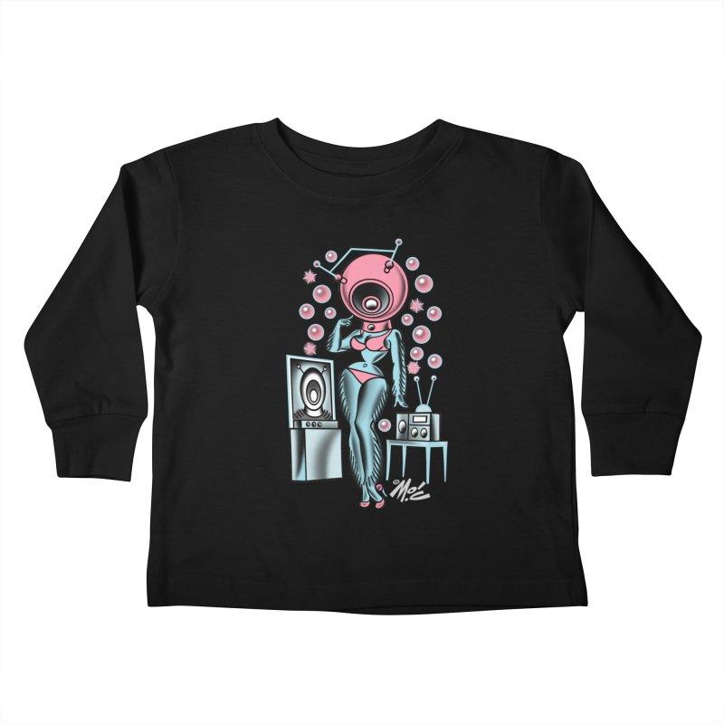 Robotcutie! Kids Toddler Longsleeve T-Shirt by Mitch O'Connell