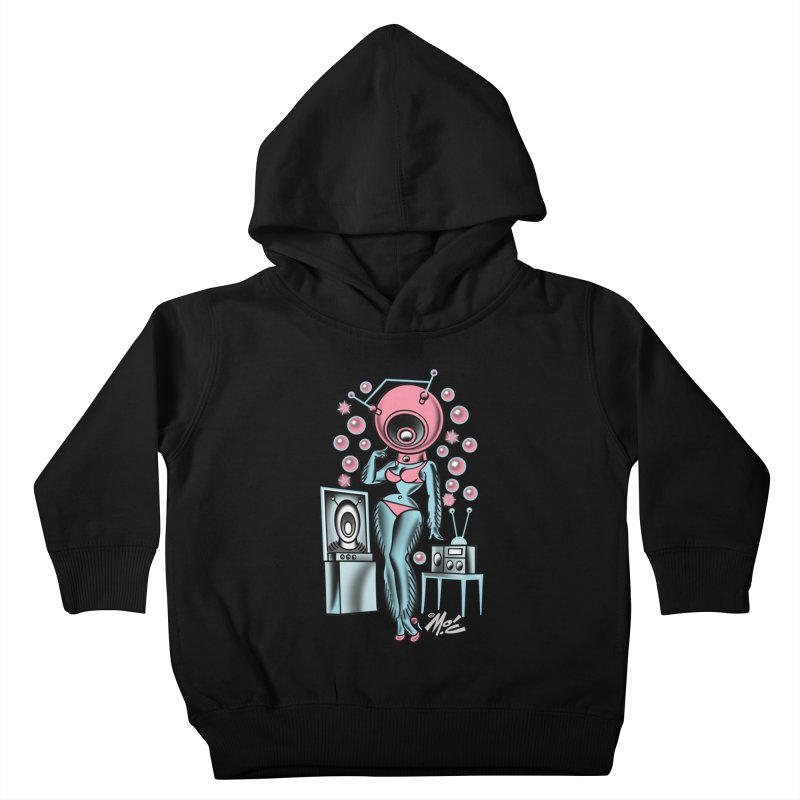 Robotcutie! Kids Toddler Pullover Hoody by Mitch O'Connell