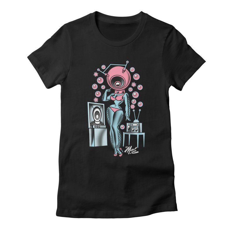 Robotcutie! Women's Fitted T-Shirt by Mitch O'Connell