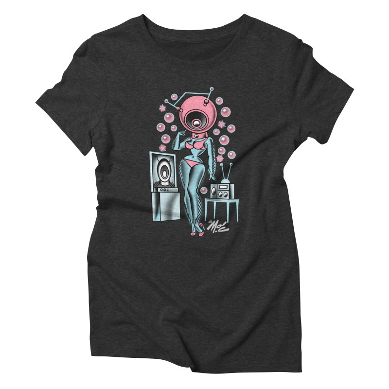 Robotcutie! Women's Triblend T-Shirt by Mitch O'Connell