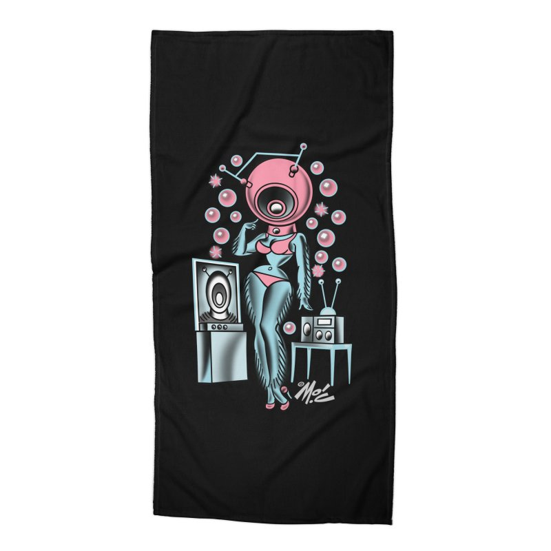 Robotcutie! Accessories Beach Towel by Mitch O'Connell