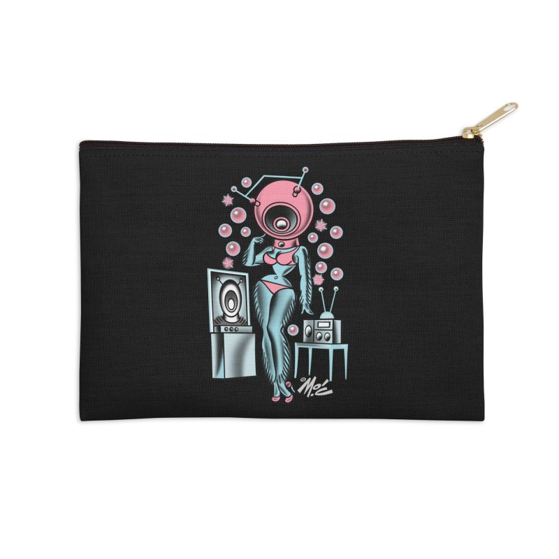Robotcutie! Accessories Zip Pouch by Mitch O'Connell