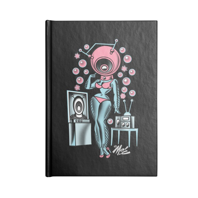 Robotcutie! Accessories Blank Journal Notebook by Mitch O'Connell