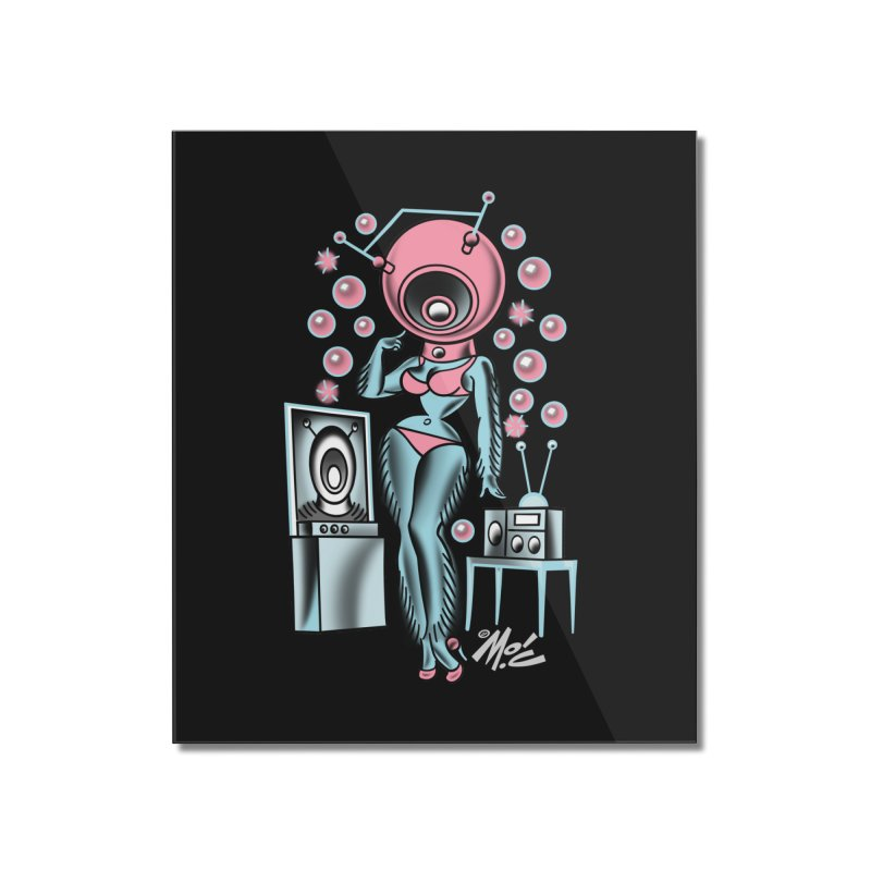 Robotcutie! Home Mounted Acrylic Print by Mitch O'Connell