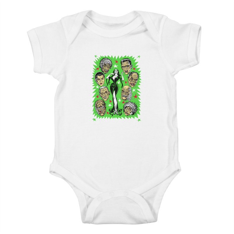 Mystery Dates! Kids Baby Bodysuit by Mitch O'Connell