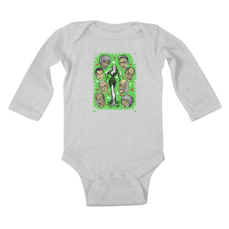 Mystery Dates! Kids Baby Longsleeve Bodysuit by Mitch O'Connell