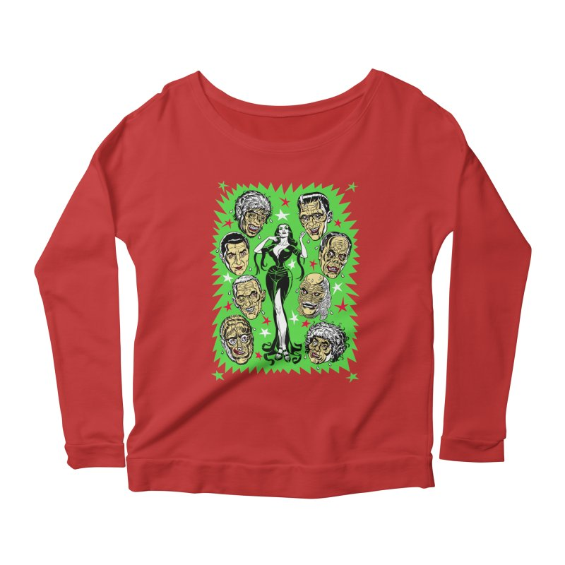 Mystery Dates! Women's Longsleeve Scoopneck  by Mitch O'Connell
