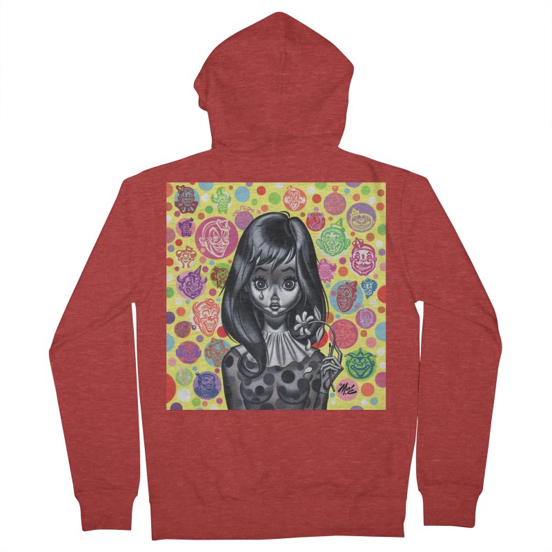 Clown Girl Men's Zip-Up Hoody by Mitch O'Connell