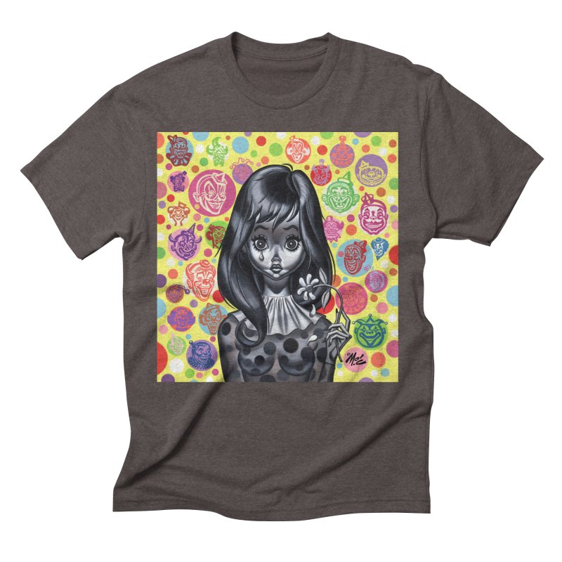 Clown Girl Men's Triblend T-Shirt by Mitch O'Connell