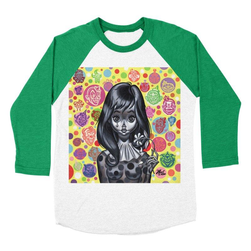 Clown Girl Women's Baseball Triblend T-Shirt by Mitch O'Connell