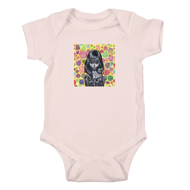 Clown Girl Kids Baby Bodysuit by Mitch O'Connell
