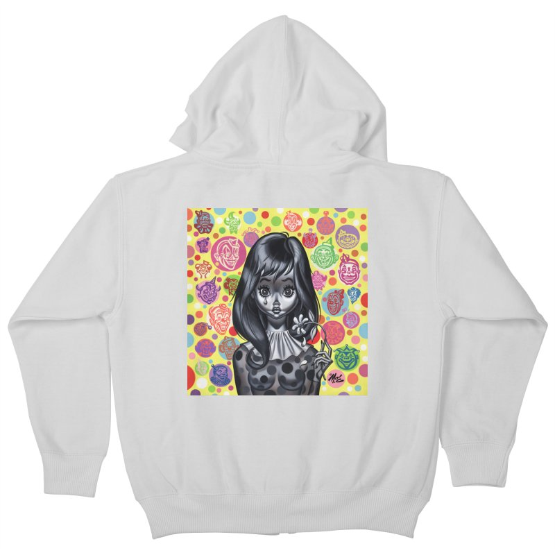 Clown Girl Kids Zip-Up Hoody by Mitch O'Connell
