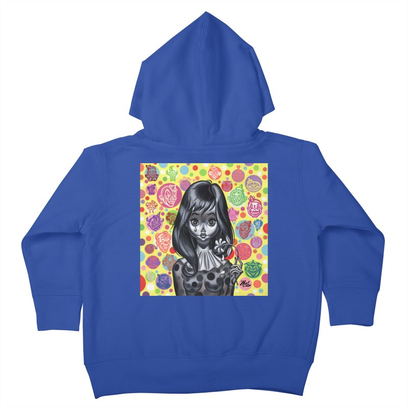 Clown Girl Kids Toddler Zip-Up Hoody by Mitch O'Connell