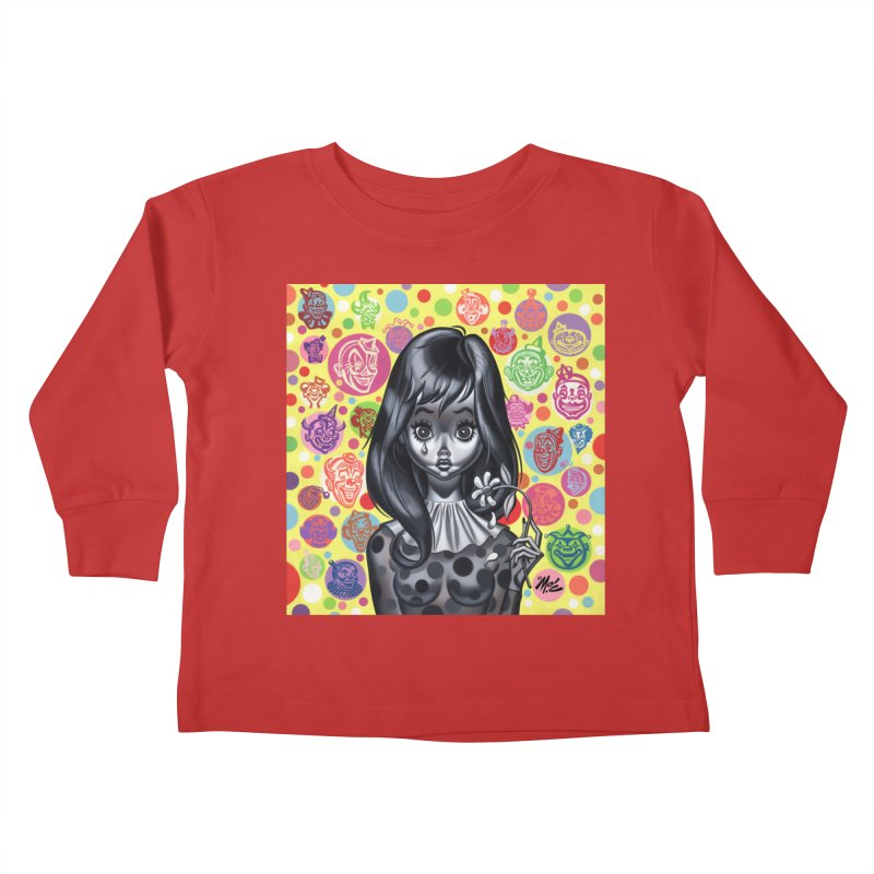 Clown Girl Kids Toddler Longsleeve T-Shirt by Mitch O'Connell
