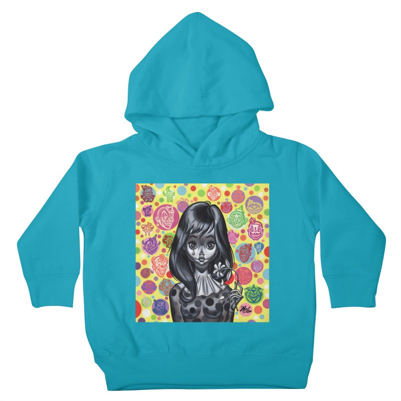 Clown Girl Kids Toddler Pullover Hoody by Mitch O'Connell