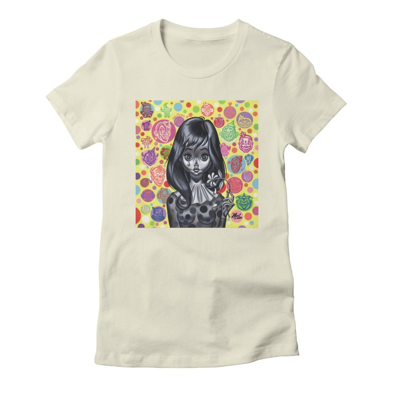 Clown Girl Women's Fitted T-Shirt by Mitch O'Connell