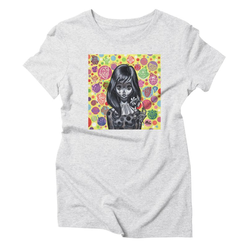 Clown Girl Women's Triblend T-Shirt by Mitch O'Connell