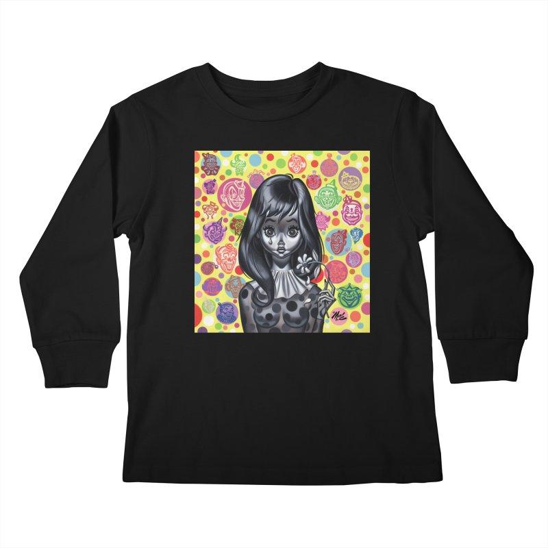 Clown Girl Kids Longsleeve T-Shirt by Mitch O'Connell