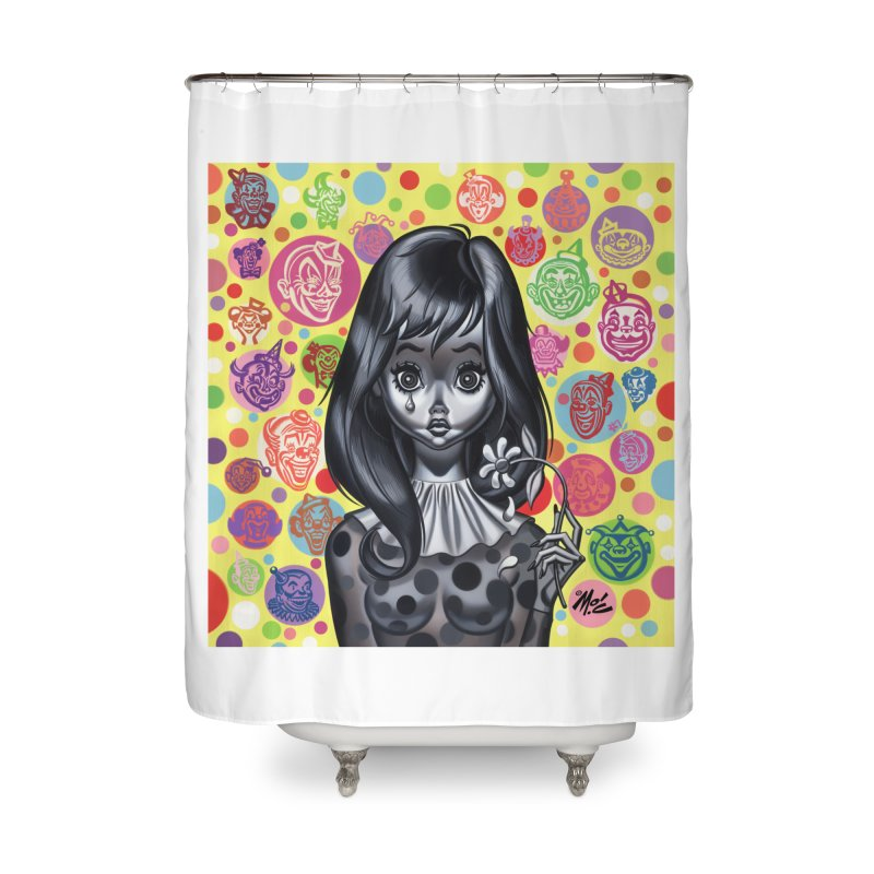 Clown Girl Home Shower Curtain by Mitch O'Connell