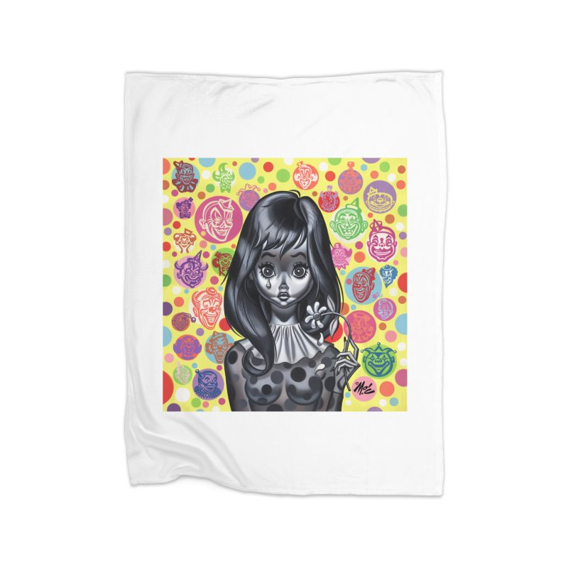 Clown Girl Home Blanket by Mitch O'Connell