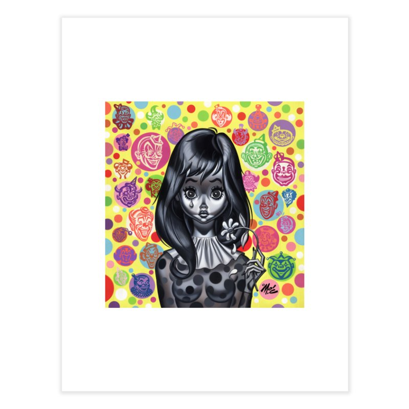Clown Girl Home Fine Art Print by Mitch O'Connell