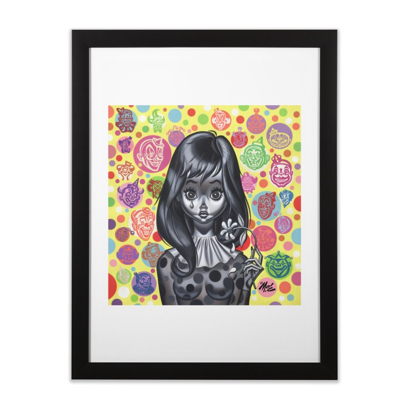 Clown Girl Home Framed Fine Art Print by Mitch O'Connell