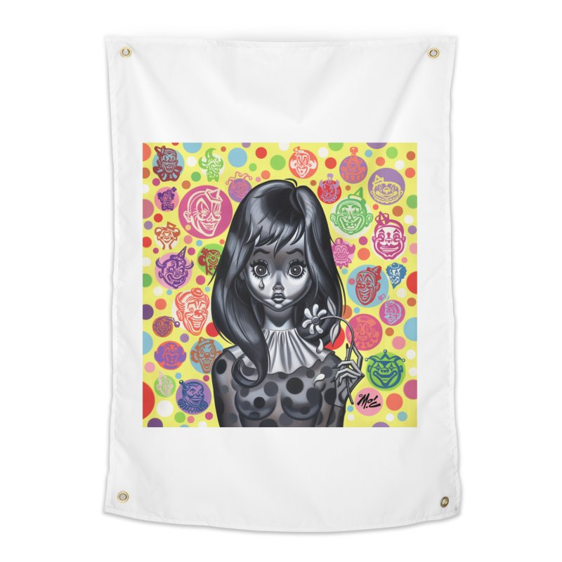 Clown Girl Home Tapestry by Mitch O'Connell