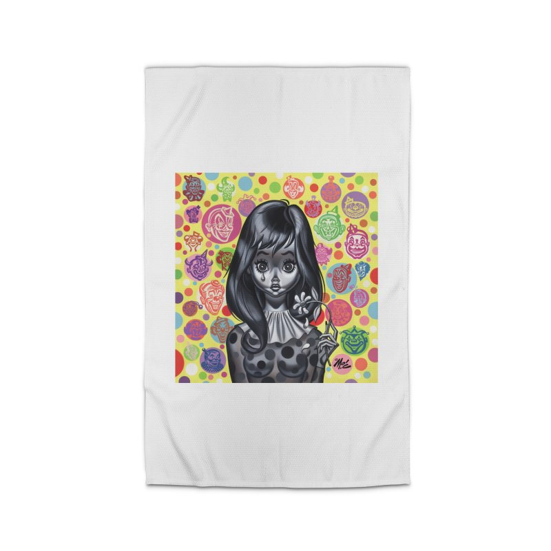 Clown Girl Home Rug by Mitch O'Connell
