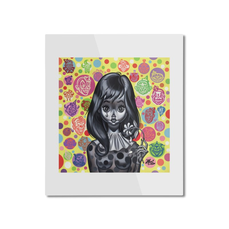 Clown Girl Home Mounted Aluminum Print by Mitch O'Connell