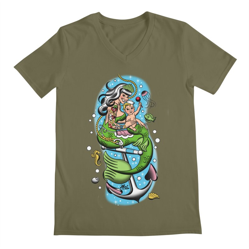 Sailor Jerry Men's V-Neck by Mitch O'Connell