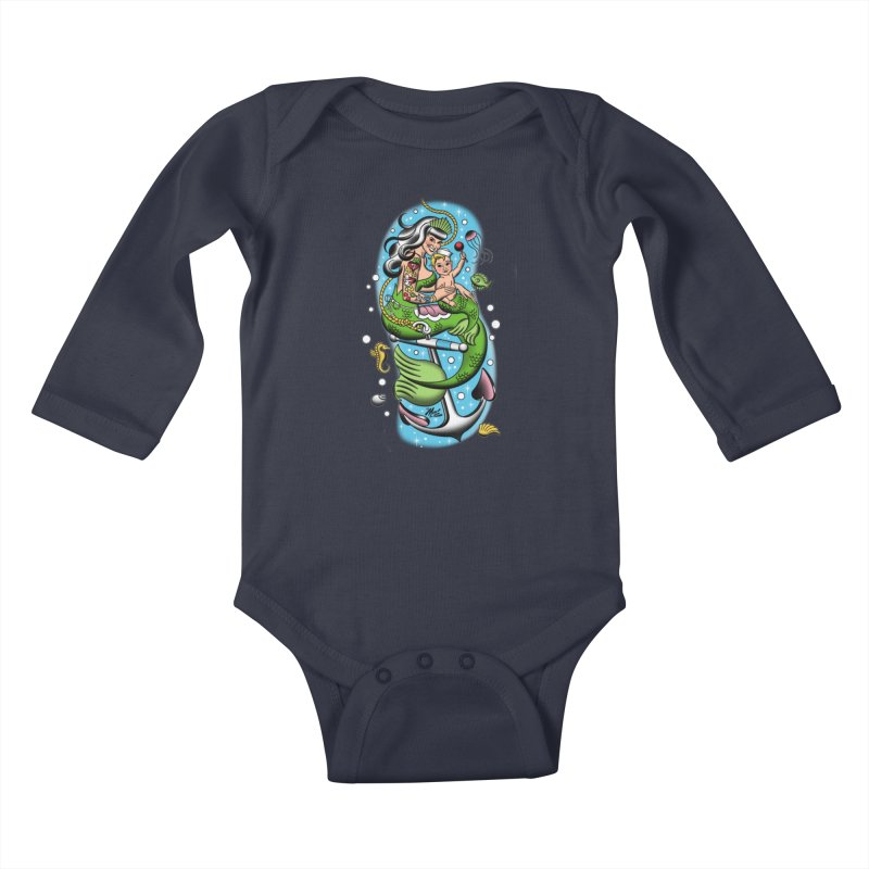 Sailor Jerry Kids Baby Longsleeve Bodysuit by Mitch O'Connell