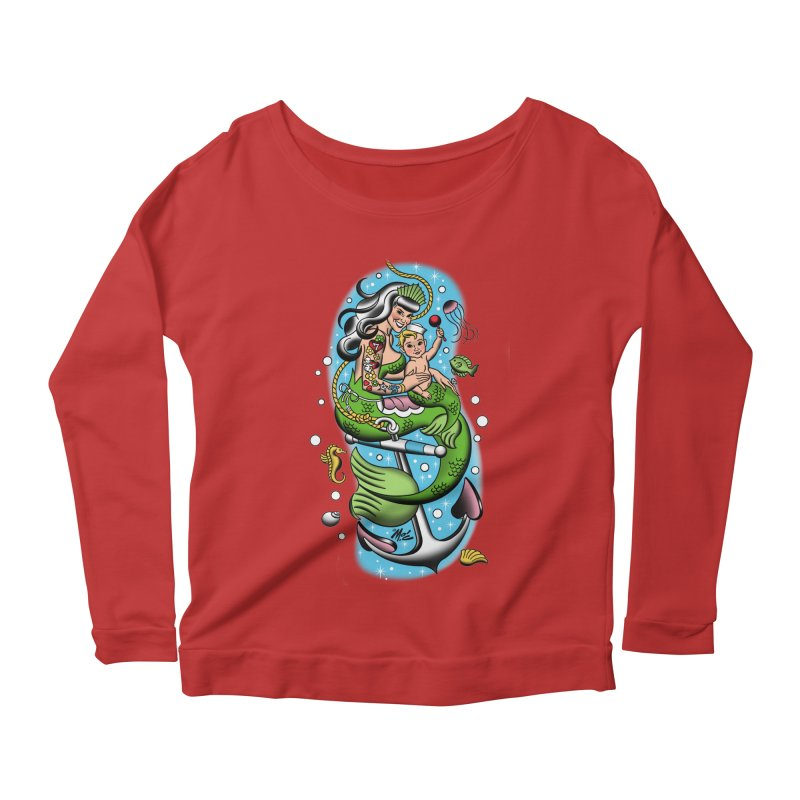 Sailor Jerry Women's Longsleeve Scoopneck  by Mitch O'Connell