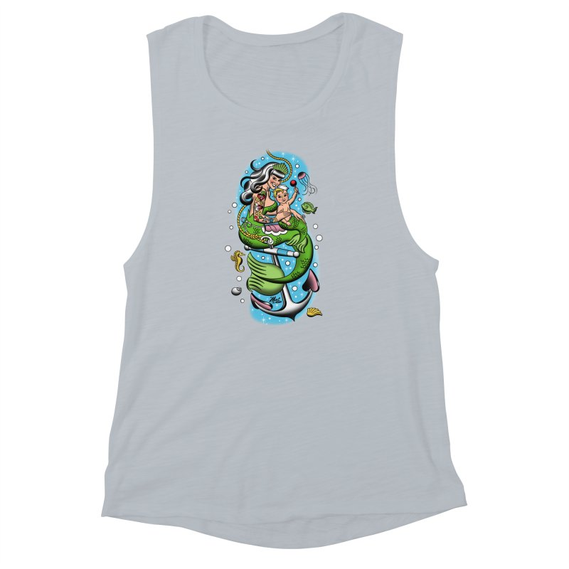 Sailor Jerry Women's Muscle Tank by Mitch O'Connell